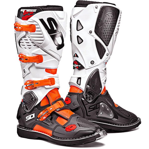 Ботуши SIDI Crossfire 3 Orange Flou Black White
