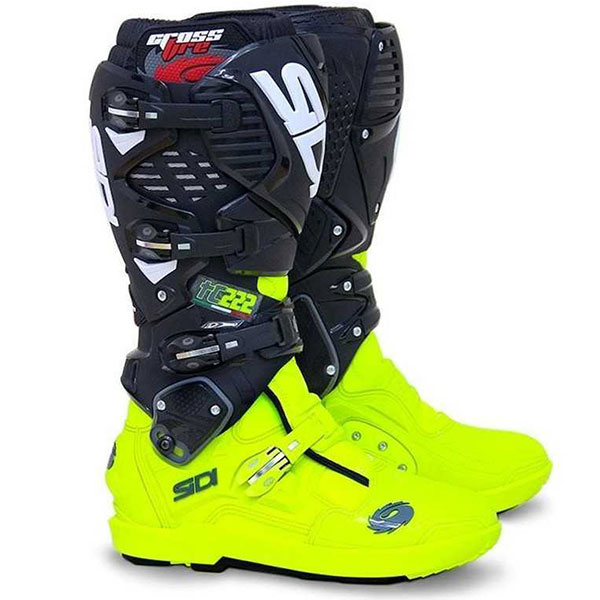 Ботуши SIDI Crossfire 3 SRS Black Yellow Flou