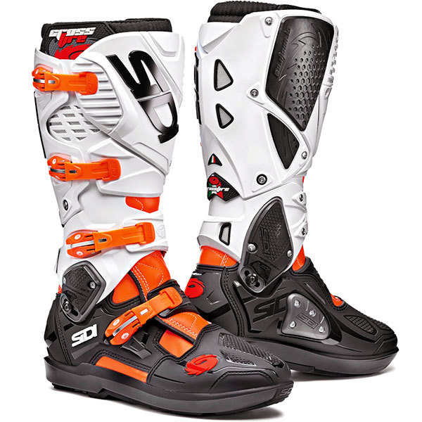 Ботуши SIDI Crossfire 3 SRS Orange Flou Black White