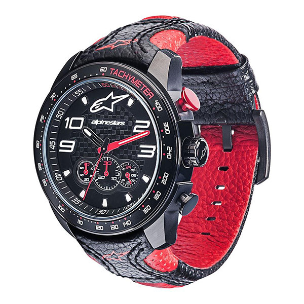 Alpinestars часовник Tech Watch Chrono Leth - Черен Червен