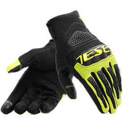 Dainese Bora Tex Gloves - Black Fluo Yellow