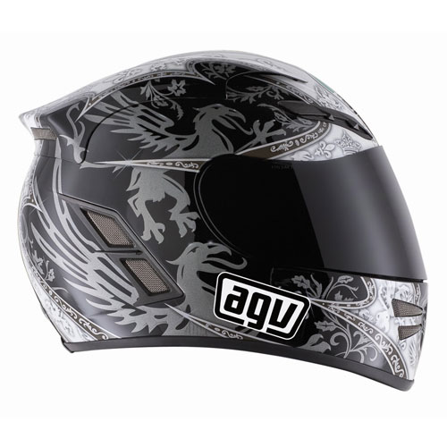 AGV Stealth Multi Grifo Black/Gunmetal каска за мотор