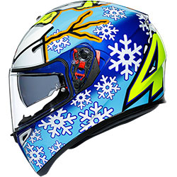 2020 Каска AGV K3 SV Top Rossi Winter Test 16