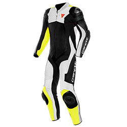 Dainese ASSEN 2 1PC Perforated Leather Suit - Black White Yellow