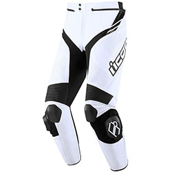 ICON Hypersport 2 Prime Leather Pants - white black