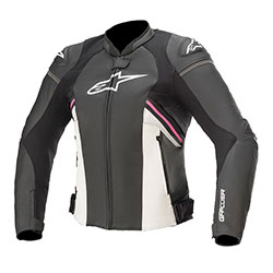 Дамско кожено яке Alpinestars Stella GP Plus R V3 - Розово
