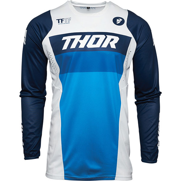 Мотокрос Блуза THOR Pulse - Racer White Navy
